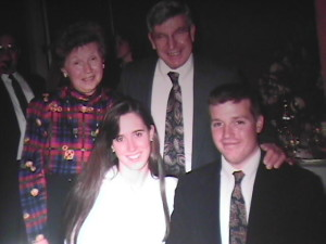 Double date to a wedding in Richmond 1993