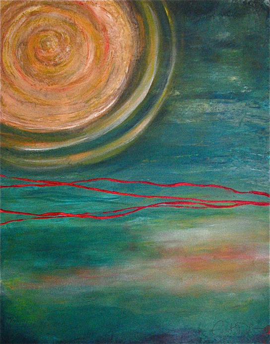 "Half the Sky 2 Acrylic on canvas 24' x 18"" NFS"