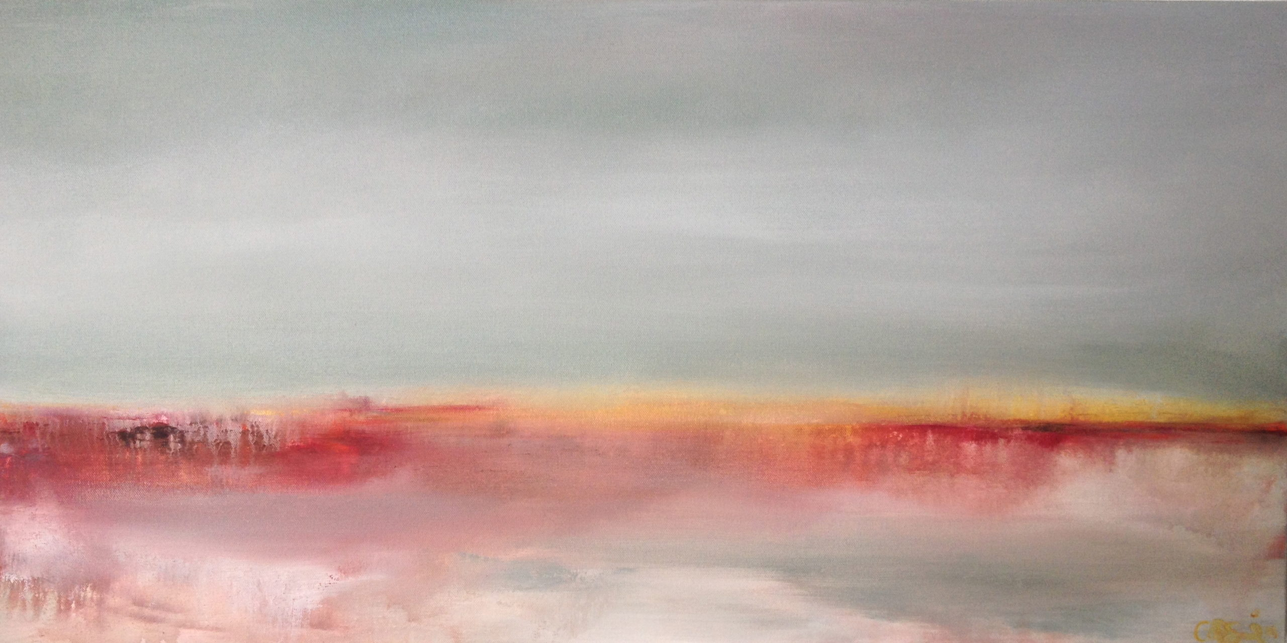 Awake my soul. 18 x 36 Waterbased oils on canvas. © Catherine Giglio