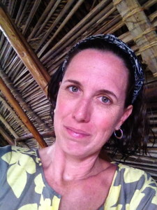 relaxed and happy in palapa